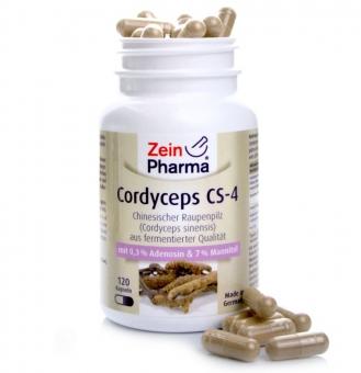 Zein Pharma Cordyceps Kapseln 500 mg, 120 Kapseln