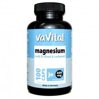 MAGNESIUM 400 mg je Kapsel | 100Kapseln | 100 % Vegan |