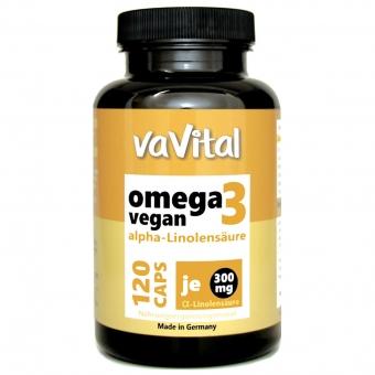 OMEGA 3 Vegan, ALPHA-LINOLENSÄURE 300 mg je Kapsel | 120 Kapseln | 100%Vegan
