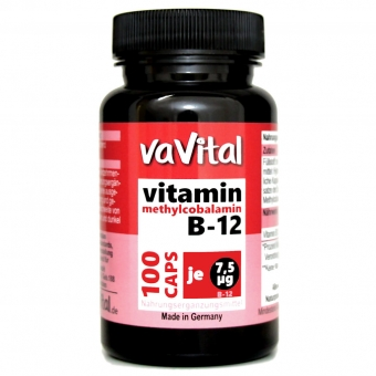 VITAMIN B12 - 7,5µg je Kapsel | 100 Kapseln |100% Vegan |