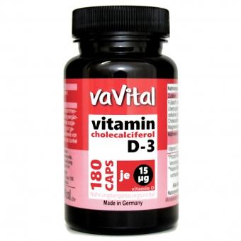 VITAMIN D3 - 15 µg je Kapsel | 180 Kapseln |100% Vegan |