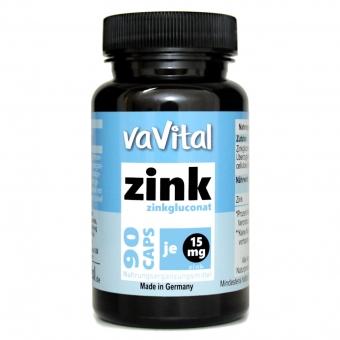 Zinkgluconat, 15 mg ZINK je Kapsel | 90 Kapseln |100% Vegan |